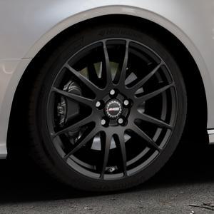 ALUTEC Monstr racing-schwarz Felge mit Reifen in 18Zoll Winterfelge Alufelge auf silbernem Audi A3 Typ 8V (Cabriolet) ⬇️ mit 15mm Tieferlegung ⬇️ Industriehalle 1 Thumbnail