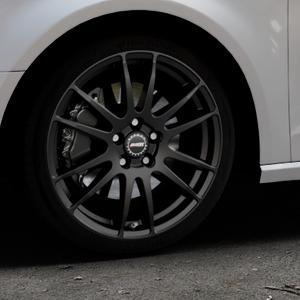 ALUTEC Monstr racing-schwarz Felge mit Reifen in 18Zoll Winterfelge Alufelge auf silbernem Audi A3 Typ 8V ⬇️ mit 15mm Tieferlegung ⬇️ Industriehalle 1 Thumbnail