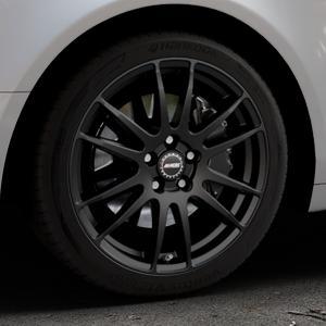 ALUTEC Monstr racing-schwarz Felge mit Reifen in 18Zoll Winterfelge Alufelge auf silbernem Audi A6 Typ 4F/C6 (Limousine) ⬇️ mit 15mm Tieferlegung ⬇️ Industriehalle 1 Thumbnail