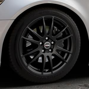 ALUTEC Monstr racing-schwarz Felge mit Reifen in 18Zoll Winterfelge Alufelge auf silbernem Audi A6 Typ 4G/C7 (Limousine) ⬇️ mit 15mm Tieferlegung ⬇️ Industriehalle 1 Thumbnail
