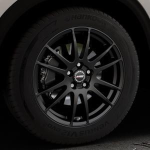 ALUTEC Monstr racing-schwarz Felge mit Reifen in 18Zoll Winterfelge Alufelge auf silbernem Mazda CX-5 Typ KF ⬇️ mit 15mm Tieferlegung ⬇️ Industriehalle 1 Thumbnail