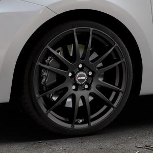 ALUTEC Monstr racing-schwarz Felge mit Reifen in 18Zoll Winterfelge Alufelge auf silbernem Suzuki Swift VI Typ AZ ⬇️ mit 15mm Tieferlegung ⬇️ Industriehalle 1 Thumbnail