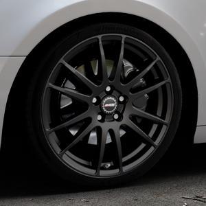 ALUTEC Monstr racing-schwarz Felge mit Reifen in 19Zoll Winterfelge Alufelge auf silbernem Audi A4 Typ B9 (Avant) ⬇️ mit 15mm Tieferlegung ⬇️ Industriehalle 1 Thumbnail