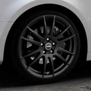 ALUTEC Monstr racing-schwarz Felge mit Reifen in 19Zoll Winterfelge Alufelge auf silbernem Audi A4 Typ B9 (Limousine) ⬇️ mit 15mm Tieferlegung ⬇️ Industriehalle 1 Thumbnail