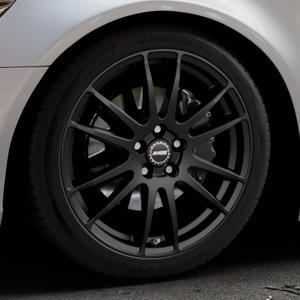 ALUTEC Monstr racing-schwarz Felge mit Reifen in 19Zoll Winterfelge Alufelge auf silbernem Audi A6 Typ 4G/C7 (Limousine) ⬇️ mit 15mm Tieferlegung ⬇️ Industriehalle 1 Thumbnail
