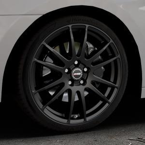 ALUTEC Monstr racing-schwarz Felge mit Reifen in 19Zoll Winterfelge Alufelge auf silbernem Hyundai i40 Typ VF Limousine Kombi Facelift ⬇️ mit 15mm Tieferlegung ⬇️ Industriehalle 1 Thumbnail