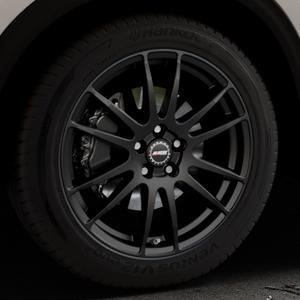 ALUTEC Monstr racing-schwarz Felge mit Reifen in 19Zoll Winterfelge Alufelge auf silbernem Mazda CX-5 Typ KF ⬇️ mit 15mm Tieferlegung ⬇️ Industriehalle 1 Thumbnail