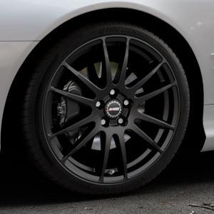 ALUTEC Monstr racing-schwarz Felge mit Reifen in 19Zoll Winterfelge Alufelge auf silbernem Mercedes SL Typ R230 ⬇️ mit 15mm Tieferlegung ⬇️ Industriehalle 1 Thumbnail