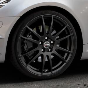 ALUTEC Monstr racing-schwarz Felge mit Reifen in 19Zoll Winterfelge Alufelge auf silbernem Mercedes SLK Typ R171 ⬇️ mit 15mm Tieferlegung ⬇️ Industriehalle 1 Thumbnail