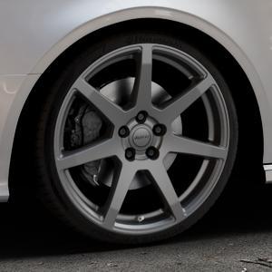 ALUTEC Pearl carbon-grau Felge mit Reifen in 19Zoll Winterfelge Alufelge auf silbernem Audi A3 Typ 8V (Cabriolet) ⬇️ mit 15mm Tieferlegung ⬇️ Industriehalle 1 Thumbnail