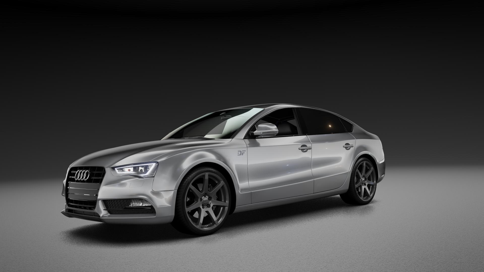 ALUTEC Pearl carbon-grau Felge mit Reifen in 19Zoll Winterfelge Alufelge auf silbernem Audi A5 Typ B8 (Sportback) Facelift ⬇️ mit 15mm Tieferlegung ⬇️ Neutral_mid_max5300mm Frontansicht_1