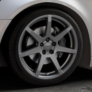 ALUTEC Pearl carbon-grau Felge mit Reifen in 19Zoll Winterfelge Alufelge auf silbernem Audi A6 Typ 4G/C7 (Avant) ⬇️ mit 15mm Tieferlegung ⬇️ Industriehalle 1 Thumbnail