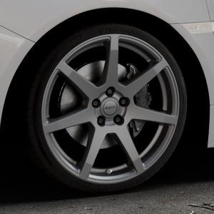 ALUTEC Pearl carbon-grau Felge mit Reifen in 19Zoll Winterfelge Alufelge auf silbernem Subaru WRX Typ V1 2,5l STI AWD 221kW (300 PS) ⬇️ mit 15mm Tieferlegung ⬇️ Industriehalle 1 Thumbnail