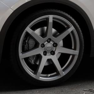 ALUTEC Pearl carbon-grau Felge mit Reifen in 19Zoll Winterfelge Alufelge auf silbernem Volkswagen (VW) T-Roc ⬇️ mit 15mm Tieferlegung ⬇️ Industriehalle 1 Thumbnail