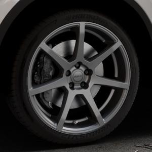 ALUTEC Pearl carbon-grau Felge mit Reifen in 20Zoll Winterfelge Alufelge auf silbernem Volkswagen (VW) Tiguan II Typ 5N Allspace ⬇️ mit 15mm Tieferlegung ⬇️ Industriehalle 1 Thumbnail