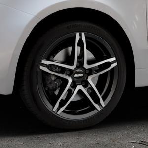 ALUTEC Poison diamant-schwarz frontpoliert Felge mit Reifen silber mehrfarbig in 16Zoll Alufelge auf silbernem Fiat 500 Typ 312 Cabrio Facelift ⬇️ mit 15mm Tieferlegung ⬇️ Industriehalle 1 Thumbnail
