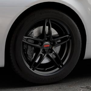ALUTEC Poison racing-schwarz Felge mit Reifen in 17Zoll Winterfelge Alufelge auf silbernem Alfa Romeo 159 Sportwagon ⬇️ mit 15mm Tieferlegung ⬇️ Industriehalle 1 Thumbnail