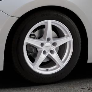 ALUTEC Raptr polar-silber Felge mit Reifen in 16Zoll Winterfelge Alufelge auf silbernem Mazda 3 (13-) Stufenheck (BM) Sport (17-) Facelift Fließheck ⬇️ mit 15mm Tieferlegung ⬇️ Industriehalle 1 Thumbnail