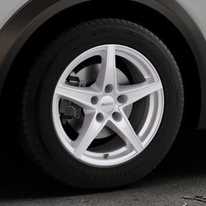 ALUTEC Raptr polar-silber Felge mit Reifen in 16Zoll Winterfelge Alufelge auf silbernem Mazda CX-3 Typ DJ1 ⬇️ mit 15mm Tieferlegung ⬇️ Industriehalle 1 Thumbnail