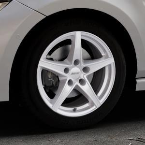 ALUTEC Raptr polar-silber Felge mit Reifen in 16Zoll Winterfelge Alufelge auf silbernem Volkswagen (VW) Polo VI Typ AW ⬇️ mit 15mm Tieferlegung ⬇️ Industriehalle 1 Thumbnail