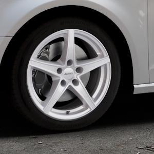 ALUTEC Raptr polar-silber Felge mit Reifen in 17Zoll Winterfelge Alufelge auf silbernem Audi A3 Typ 8V ⬇️ mit 15mm Tieferlegung ⬇️ Industriehalle 1 Thumbnail