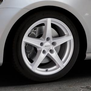 ALUTEC Raptr polar-silber Felge mit Reifen in 17Zoll Winterfelge Alufelge auf silbernem Volkswagen (VW) Golf 7 ⬇️ mit 15mm Tieferlegung ⬇️ Industriehalle 1 Thumbnail
