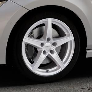 ALUTEC Raptr polar-silber Felge mit Reifen in 17Zoll Winterfelge Alufelge auf silbernem Volkswagen (VW) Polo VI Typ AW ⬇️ mit 15mm Tieferlegung ⬇️ Industriehalle 1 Thumbnail