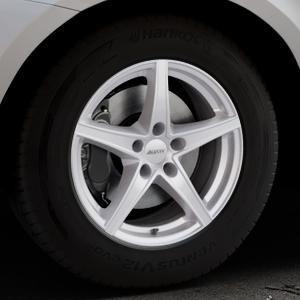 ALUTEC Raptr polar-silber Felge mit Reifen in 17Zoll Winterfelge Alufelge auf silbernem Volvo XC60 Typ D Facelift ⬇️ mit 15mm Tieferlegung ⬇️ Industriehalle 1 Thumbnail