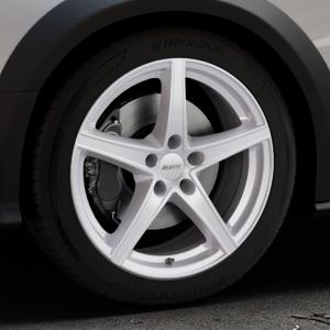 ALUTEC Raptr polar-silber Felge mit Reifen in 18Zoll Winterfelge Alufelge auf silbernem Audi A4 Typ 8KH/B8 Allroad ⬇️ mit 15mm Tieferlegung ⬇️ Industriehalle 1 Thumbnail