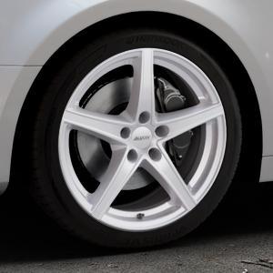 ALUTEC Raptr polar-silber Felge mit Reifen in 18Zoll Winterfelge Alufelge auf silbernem Audi A4 Typ B9 (Limousine) ⬇️ mit 15mm Tieferlegung ⬇️ Industriehalle 1 Thumbnail