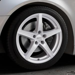 ALUTEC Raptr polar-silber Felge mit Reifen in 18Zoll Winterfelge Alufelge auf silbernem Audi A6 Typ 4G/C7 (Avant) ⬇️ mit 15mm Tieferlegung ⬇️ Industriehalle 1 Thumbnail