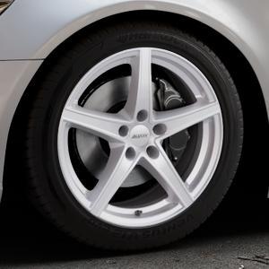 ALUTEC Raptr polar-silber Felge mit Reifen in 18Zoll Winterfelge Alufelge auf silbernem Audi A6 Typ 4G/C7 (Limousine) ⬇️ mit 15mm Tieferlegung ⬇️ Industriehalle 1 Thumbnail