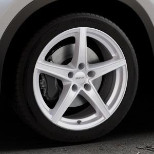 ALUTEC Raptr polar-silber Felge mit Reifen in 18Zoll Winterfelge Alufelge auf silbernem BMW X1 Typ F48 (UKL-L) (F1X) ⬇️ mit 15mm Tieferlegung ⬇️ Industriehalle 1 Thumbnail