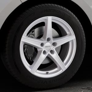 ALUTEC Raptr polar-silber Felge mit Reifen in 18Zoll Winterfelge Alufelge auf silbernem Ford Edge Typ SBF ⬇️ mit 15mm Tieferlegung ⬇️ Industriehalle 1 Thumbnail