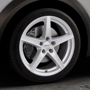 ALUTEC Raptr polar-silber Felge mit Reifen in 18Zoll Winterfelge Alufelge auf silbernem Mazda CX-3 Typ DJ1 ⬇️ mit 15mm Tieferlegung ⬇️ Industriehalle 1 Thumbnail