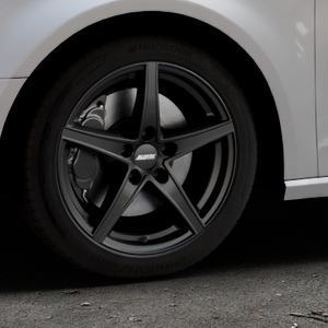 ALUTEC Raptr racing-schwarz Felge mit Reifen in 17Zoll Winterfelge Alufelge auf silbernem Audi A3 Typ 8V ⬇️ mit 15mm Tieferlegung ⬇️ Industriehalle 1 Thumbnail