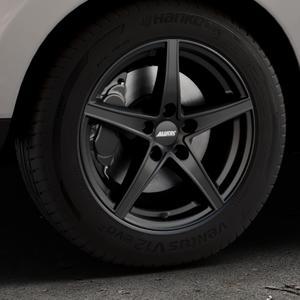 ALUTEC Raptr racing-schwarz Felge mit Reifen in 17Zoll Winterfelge Alufelge auf silbernem Hyundai ix35 Typ EL ELH LM LMFC ⬇️ mit 15mm Tieferlegung ⬇️ Industriehalle 1 Thumbnail