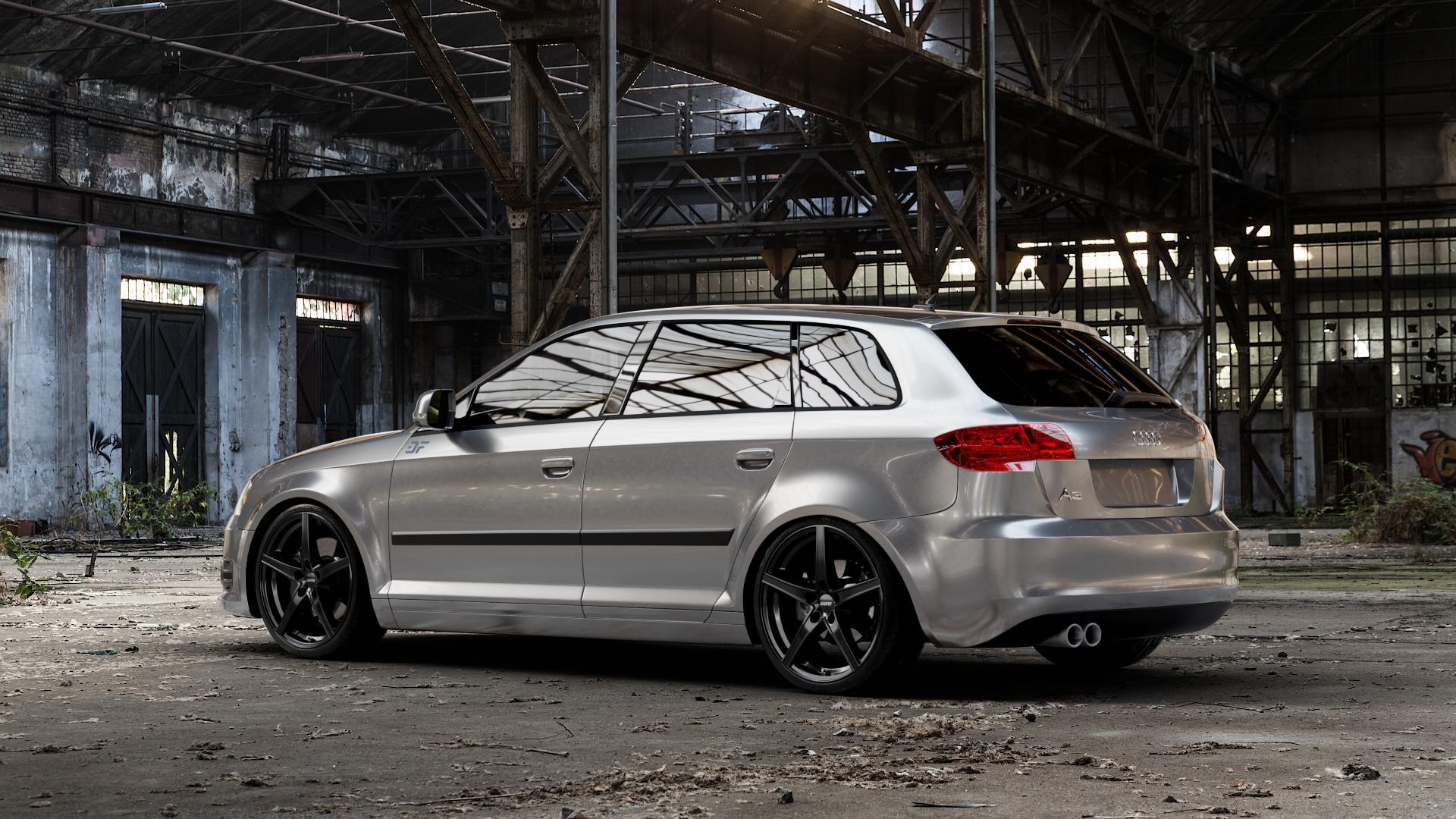 ALUTEC Raptr racing-schwarz Felge mit Reifen in 19Zoll Winterfelge Alufelge auf silbernem Audi A3 Typ 8P (Sportback) 1,6l 75kW (102 PS) 2,0l FSI 110kW (150 1,9l TDI 77kW (105 103kW (140 TFSI 147kW (200 85kW (116 100kW (136 1,8l 118kW (160 125kW (170 1,4l 92kW (125 120kW (163 quattro 3,2l V6 184kW (250 S3 195kW (265 1,2l 66kW (90