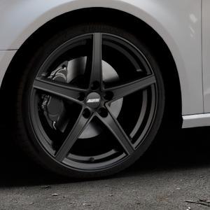 ALUTEC Raptr racing-schwarz Felge mit Reifen in 19Zoll Winterfelge Alufelge auf silbernem Audi A3 Typ 8V ⬇️ mit 15mm Tieferlegung ⬇️ Industriehalle 1 Thumbnail