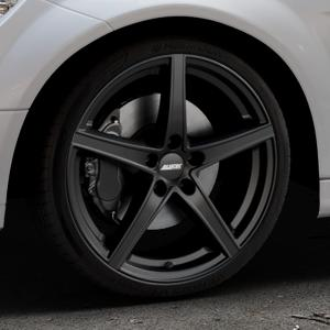 ALUTEC Raptr racing-schwarz Felge mit Reifen in 19Zoll Winterfelge Alufelge auf silbernem Mercedes C-Klasse Typ W204 Limousine ⬇️ mit 15mm Tieferlegung ⬇️ Industriehalle 1 Thumbnail