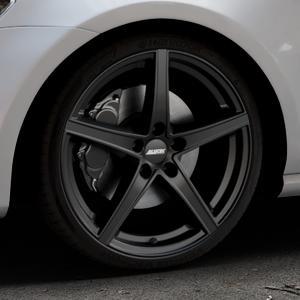 ALUTEC Raptr racing-schwarz Felge mit Reifen in 19Zoll Winterfelge Alufelge auf silbernem Volkswagen (VW) Golf 7 ⬇️ mit 15mm Tieferlegung ⬇️ Industriehalle 1 Thumbnail