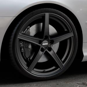 ALUTEC Raptr racing-schwarz Felge mit Reifen in 20Zoll Winterfelge Alufelge auf silbernem Mercedes SL Typ R230 ⬇️ mit 15mm Tieferlegung ⬇️ Industriehalle 1 Thumbnail