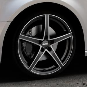 ALUTEC Raptr racing-schwarz frontpoliert Felge mit Reifen silber mehrfarbig in 19Zoll Alufelge auf silbernem Audi A3 Typ 8V (Sportback) ⬇️ mit 15mm Tieferlegung ⬇️ Industriehalle 1 Thumbnail
