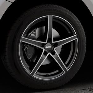 ALUTEC Raptr racing-schwarz frontpoliert Felge mit Reifen silber mehrfarbig in 19Zoll Alufelge auf silbernem Audi Q5 I Typ 8R ⬇️ mit 15mm Tieferlegung ⬇️ Industriehalle 1 Thumbnail