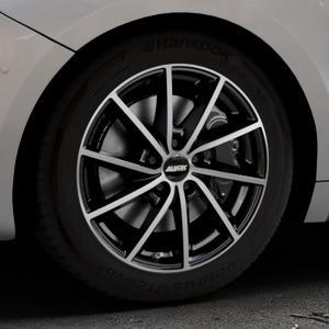 ALUTEC Singa diamant-schwarz frontpoliert Felge mit Reifen silber mehrfarbig in 17Zoll Alufelge auf silbernem DS Automobiles DS5 Typ K Facelift ⬇️ mit 15mm Tieferlegung ⬇️ Industriehalle 1 Thumbnail