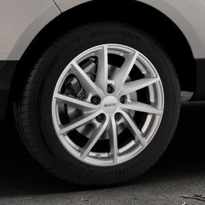 ALUTEC Singa polar-silber Felge mit Reifen in 16Zoll Winterfelge Alufelge auf silbernem Ford EcoSport Typ JK8 ⬇️ mit 15mm Tieferlegung ⬇️ Industriehalle 1 Thumbnail