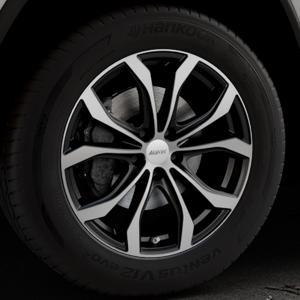 ALUTEC W10X racing-schwarz frontpoliert Felge mit Reifen silber mehrfarbig in 19Zoll Alufelge auf silbernem Jeep Grand Cherokee IV Typ WK ⬇️ mit 15mm Tieferlegung ⬇️ Industriehalle 1 Thumbnail