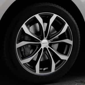 ALUTEC W10X racing-schwarz frontpoliert Felge mit Reifen silber mehrfarbig in 20Zoll Alufelge auf silbernem Jaguar F-Pace Typ DC ⬇️ mit 15mm Tieferlegung ⬇️ Industriehalle 1 Thumbnail