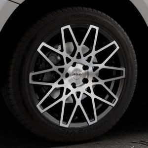 ASA GT4 schwarz glanz frontpoliert Felge mit Reifen silber mehrfarbig in 19Zoll Alufelge auf silbernem Audi Q5 I Typ 8R ⬇️ mit 15mm Tieferlegung ⬇️ Industriehalle 1 Thumbnail