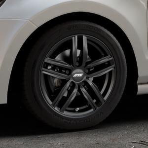 ATS Antares diamant-schwarz Felge mit Reifen in 15Zoll Winterfelge Alufelge auf silbernem Volkswagen (VW) Polo V Typ 6R ⬇️ mit 15mm Tieferlegung ⬇️ Industriehalle 1 Thumbnail